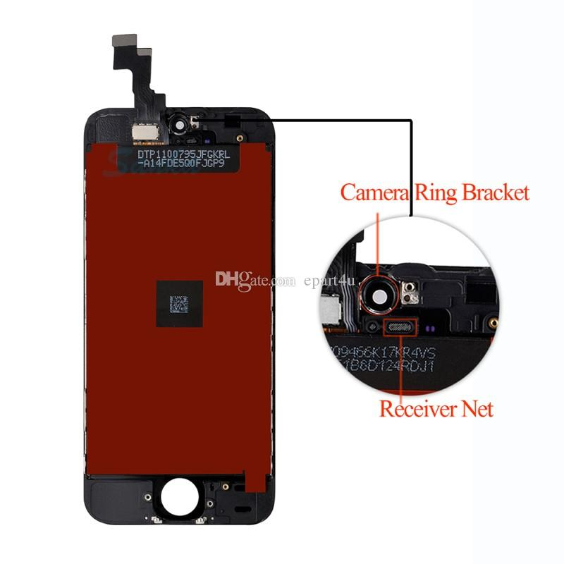 Replacement For iPhone 5S Screen LCD Display Touch Screen Digitizer Assembly Front Glass LCD Screen Black