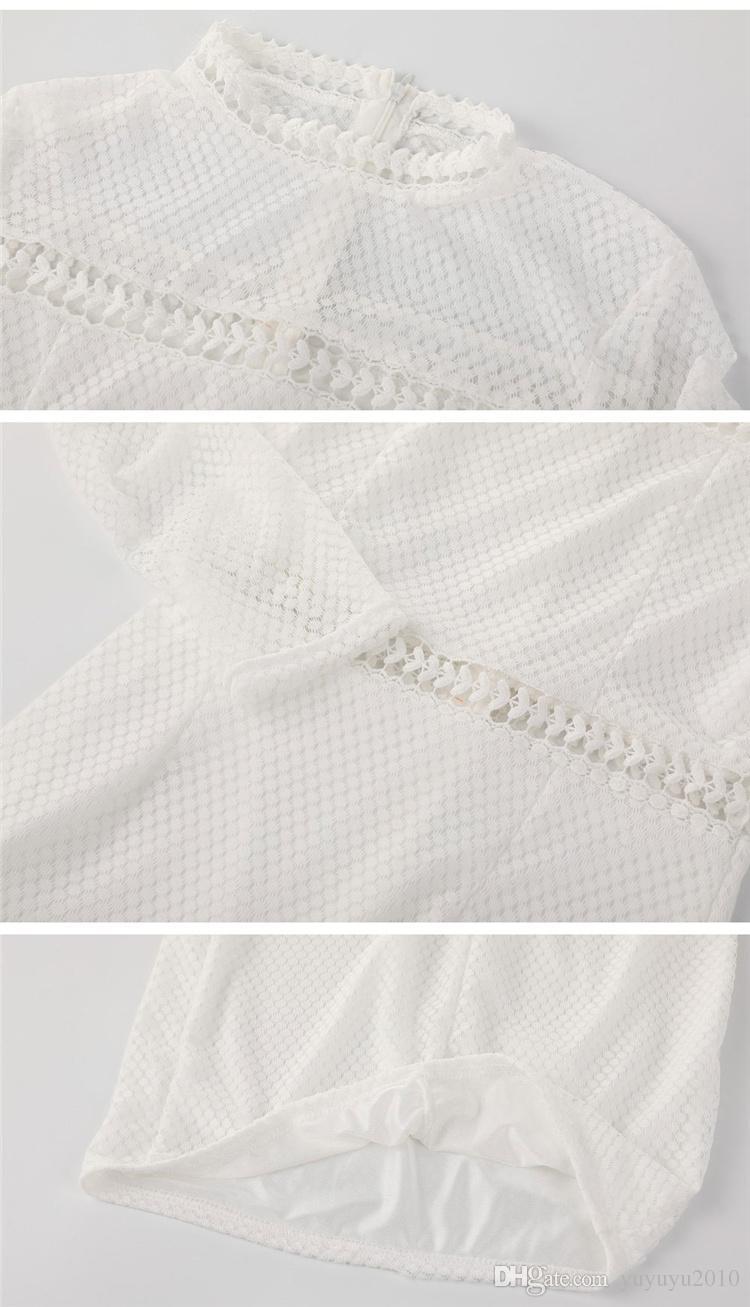 Nouveau col roulé creux à manches longues Midi Sexy Club Bodycon Dress Automne patchwork solide Femmes Élastique Élégant Robes MTL170811