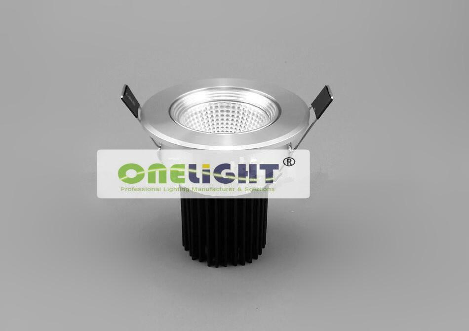 Partihandel - Gratis frakt 15W COB LED Downlight AC110 ~ 240V Cool / Warm Vit 100LM / W CEROHS / 15W LED Spotlight tak