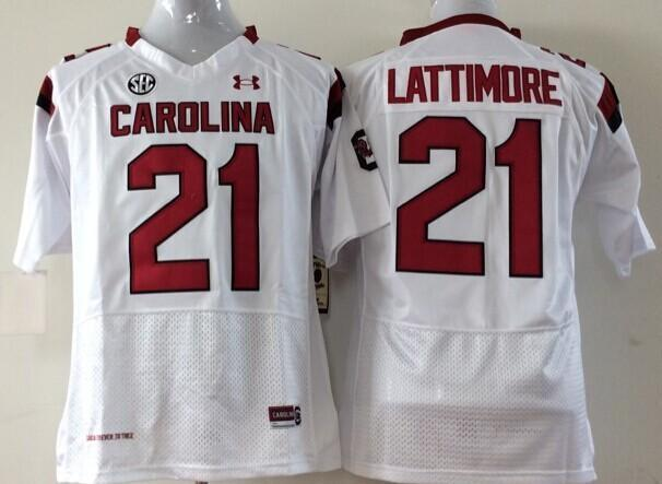 06cd79ab3e6 ... 2017 Factory Outlet Ncaa South Carolina Gamecock 21 Marcus Lattimore College  Football Jerseys