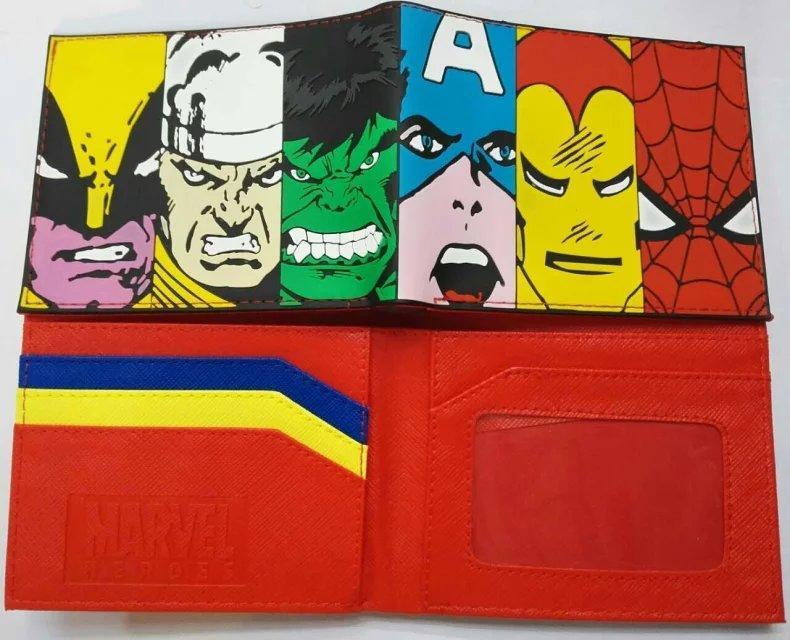 8db1d66a5 Compre Marvel Super Heroes Wallet Avengers Captain America Hulk Iron  Cartera Para Hombre Short Leather Comics Monederos Bolsas Feminina  Billeteras A $2.64 ...