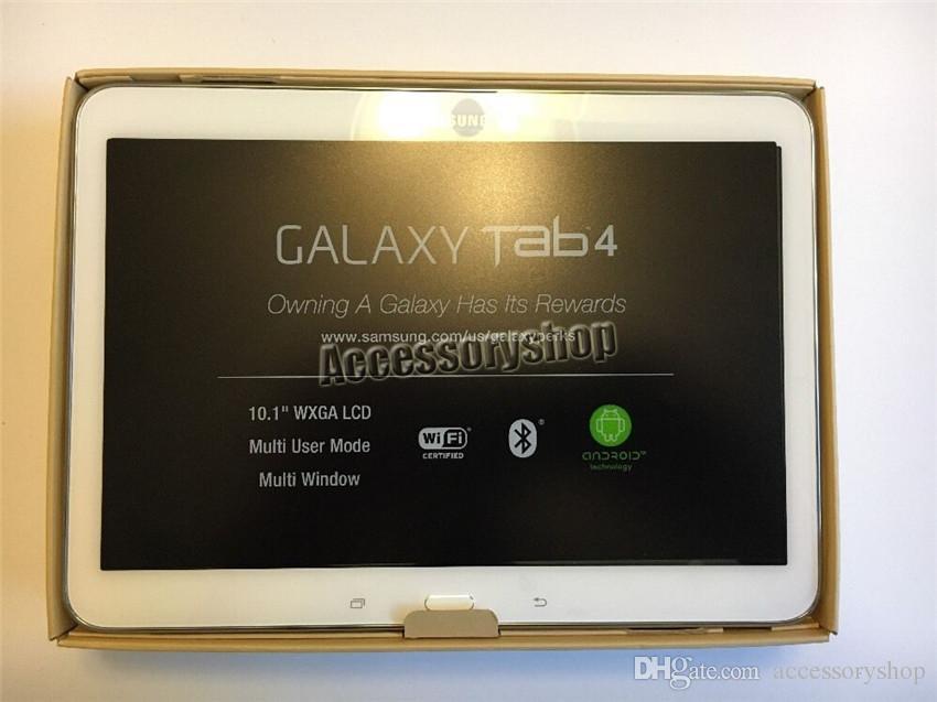 Восстановленный оригинальный Samsung Galaxy Tab 4 10.1 SM-T530 T530 10.1 дюймов Wifi 16 ГБ ROM Quad Core 3.0 MP камера Android Tablet PC черный и белый