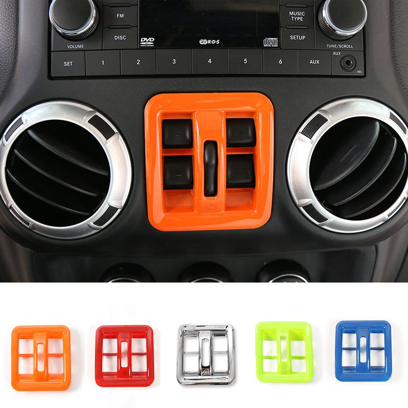 Window Switch Button Frame Cover Trim High Quality New Arrival Car Interior  Accessories Fit For Jeep Wrangler 2011 2016 Interior Car Decor Interior Car  ...