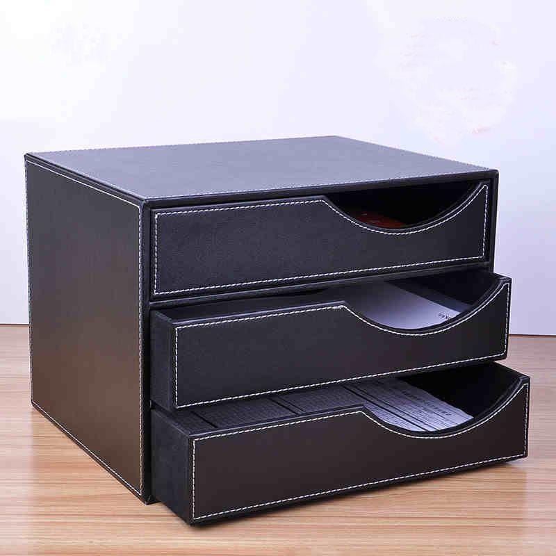 gro handel gro handel holz leder 3 schublade a4 schreibtisch aktenschrank b ro tisch dokument. Black Bedroom Furniture Sets. Home Design Ideas