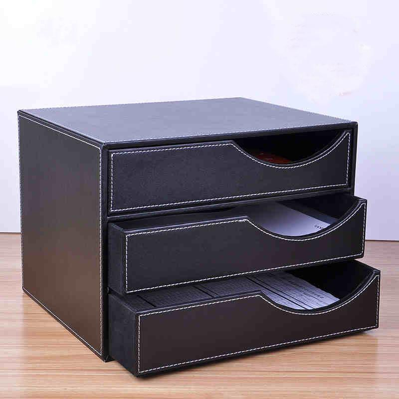 2018 Whole Wood Leather 3 Drawer A4 Desktop File Cabinet Office Table Doent Holder Organizer Tray Filing Stand 623a From Sheiler