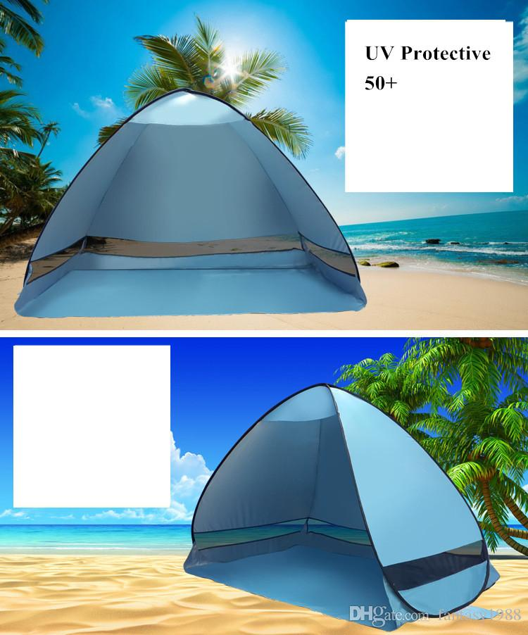 Quick Automatic Opening Hiking Tents Outdoors for 2-3 People UV Protection +50 Tent for Beach Travel Lawn /Fast Shipping