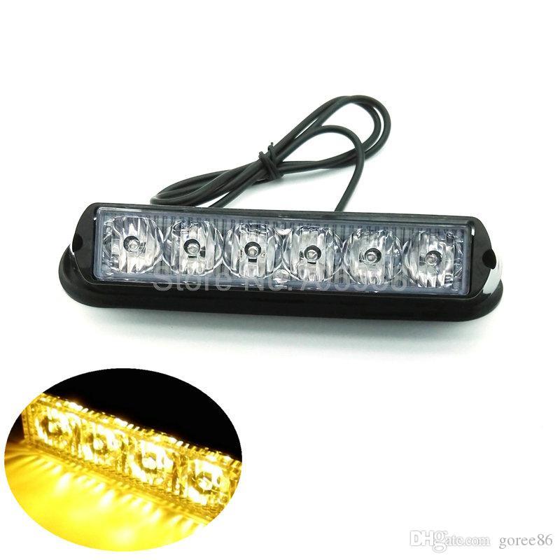 YENI 12 V 6 W 6LED Yüksek güç LED Strobe kargo kamyon yan ışıkları LED uyarı ışığı, LED flaş ışığı, Strobe, 6LED Flaşör işıklar