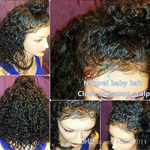 8A 360 Spitze Perücken für Schwarze Frauen Reines Haar Lace Front Perücken Menschliches Haar Glueless 360 Spitze Frontal Perücken 12 zoll mit 180%