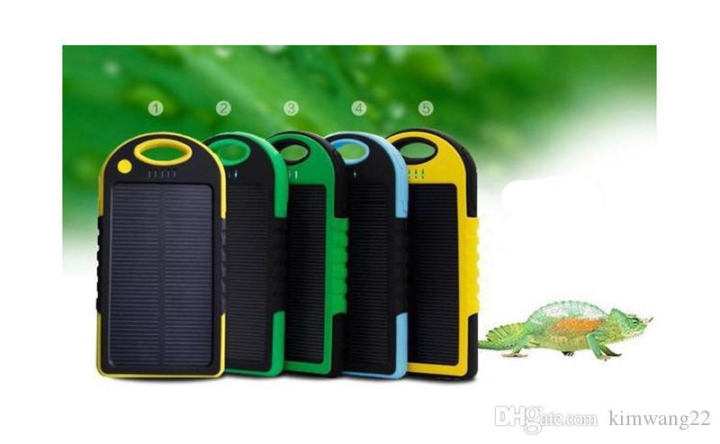 유니버설 5000mAh 태양 열 충전기 방수 태양 전지 패널 배터리 충전기 스마트 전화 패드 태블릿 카메라 모바일 전원 은행 듀얼 USB
