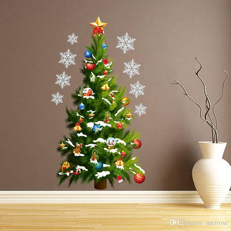 Wall Stickers for Christmas Tree Decorative Wall Cecal Xmas Home Decoration Window Display Removable Wallpaper Product Code:90-2007