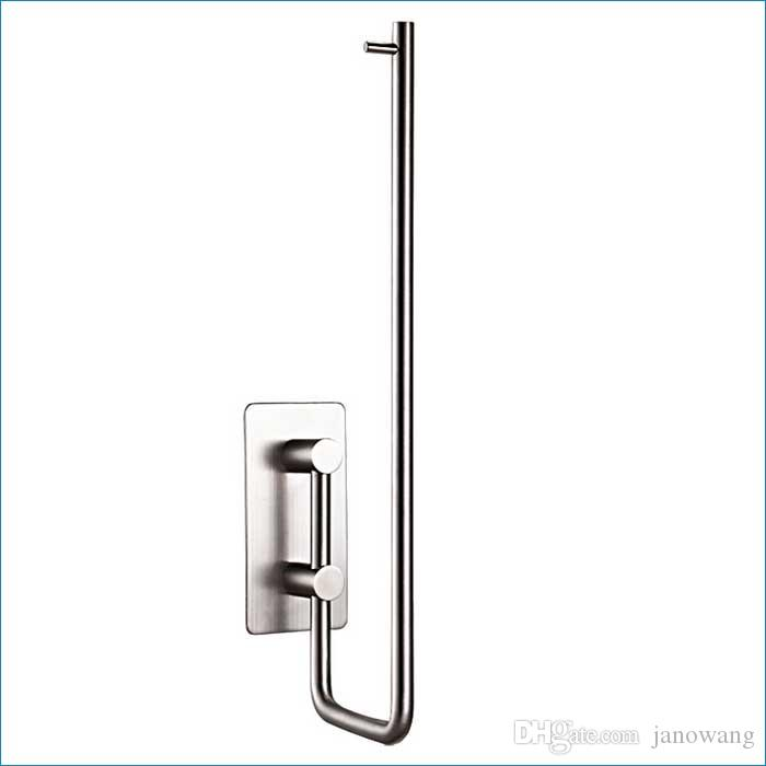 Stainless steel kitchen paper roll holder,kitchen paper towel holders,Without drilling 3M sticky hooks,J15372