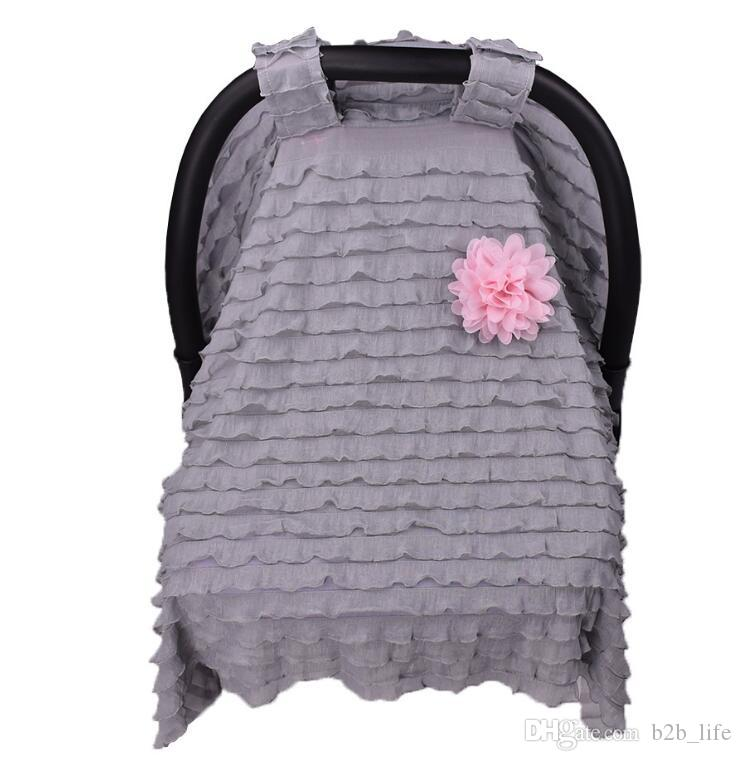 Baby Stroller Pram Car Seat Cover Breathable Sun Shade Canopy Blanket Chair Shoping Cart Sleep Buggy Covers KKA2412