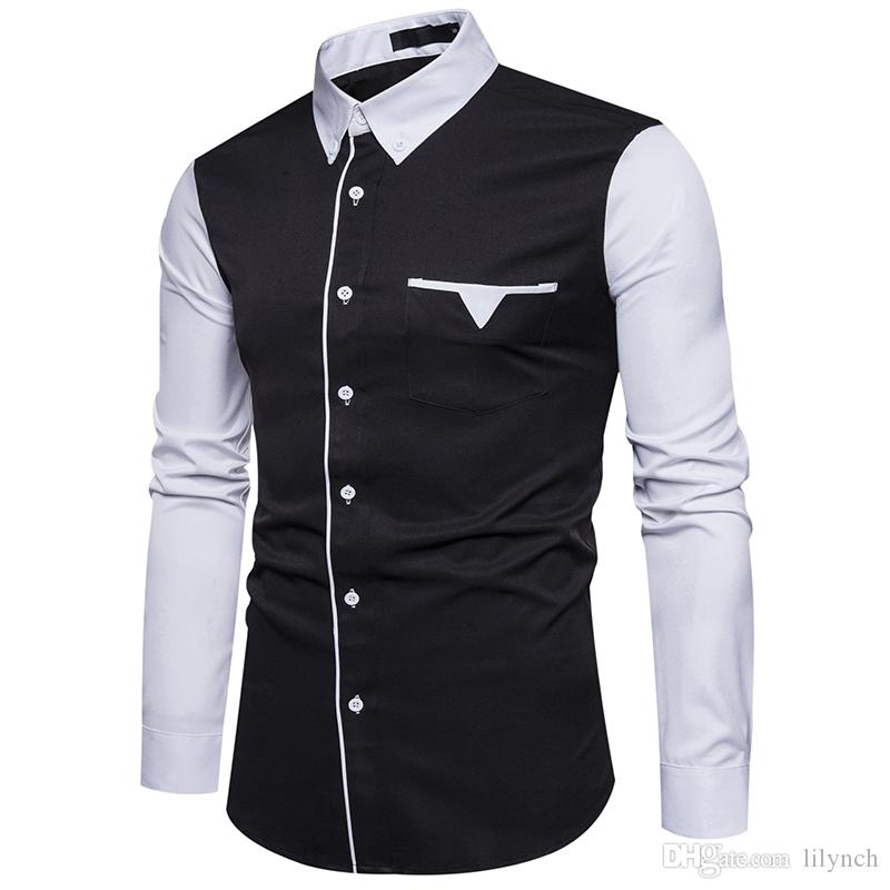 2020 Brand Clothing 2017 Autumn New Mens Fashion Sleeves Then Fight Unique Pocket Design Male Models Long Sleeved Shirt From Lilynch 16 25 Dhgate Com