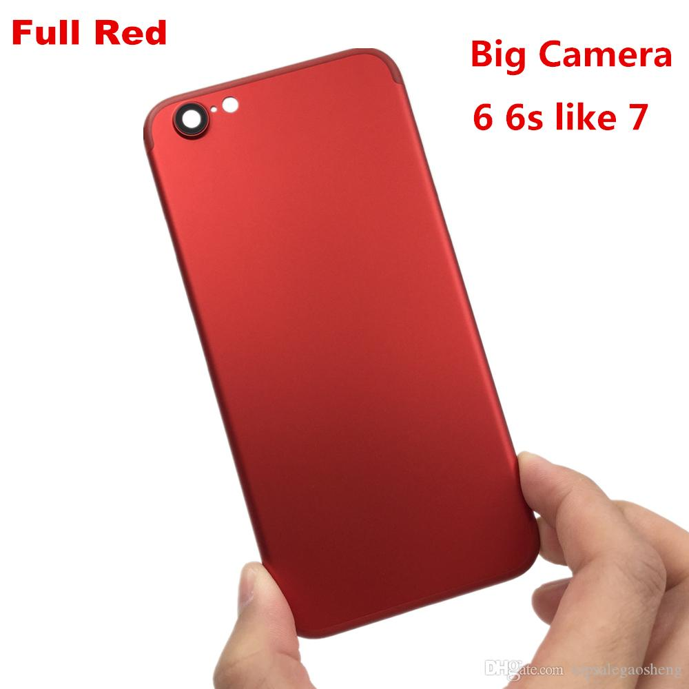 newest 7f0c5 23b58 New Full Red Housing for iPhone 6 LIKE 7 FULL Red Housing battery Door  Cover Replacement For iPhone 6s Green like i7