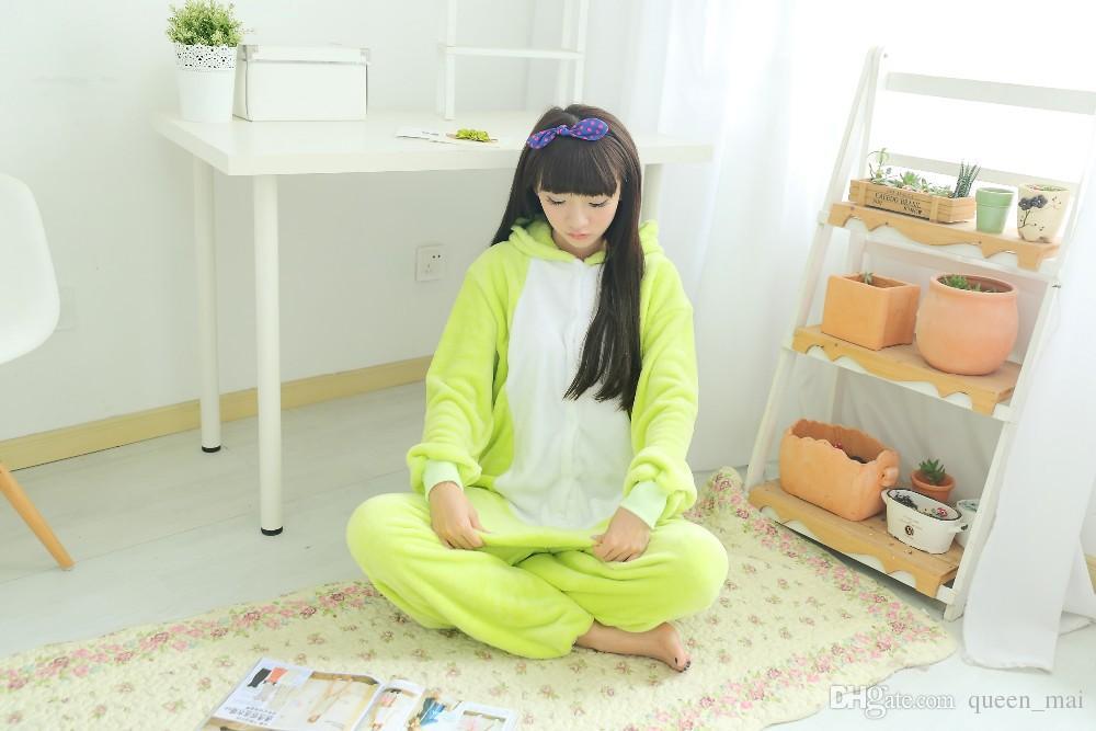 Unisex uomo donna lady vestiti adulti pigiama costume cosplay animale tutina da notte animali del fumetto cosplay cuta rana tutina / tuta