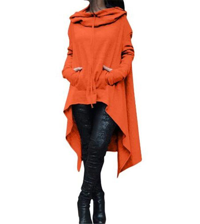 10design Hoodies Irrégulier À Manches Longues Vestes Femmes Solide Occasionnel Manteau Automne Blouses Pulls Molletonnés Pull Outwear Jumper Femmes Vêtements M102