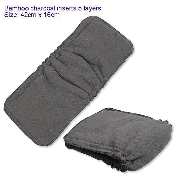 1 ADET Bambu Kömür Pamuk kumaş bebek bezleri Uçlar Çocuk bezi değiştirme mat Bebek Bezi Tekrar kullanılabilir bebek bezi değişen ped 5 Katmanlar