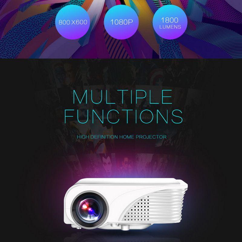 S320 1800 Lumens Mini Pico Portable LED Projector HDMI USB VGA AV PC LCD Home Theater Cinema Proyector Beamer Multimedia HD 1080P