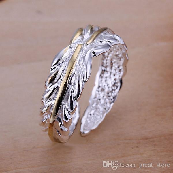 Ordem da mistura 10 peças estilo diferente 925 anéis de prata gssr001b fábrica venda direta moda esterlina prata anel de dedo banhado