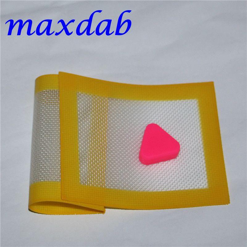 Tapis de silicone Tapis de silicone antiadhésifs Tapis de silicium sec 11cm * 8.5cm FDA Tapis de cuisson FDA Tapis de cuisson Feuilles Dabber Jars Dabber Pad Vert bleu jaune DHL