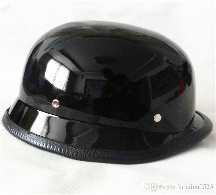 2017 Новый Высокое качество Второй мировой войны Стиль немецкий мотоцикл Половина шлем Vintage Измельчитель Cruiser Каско DOT Утвержденная