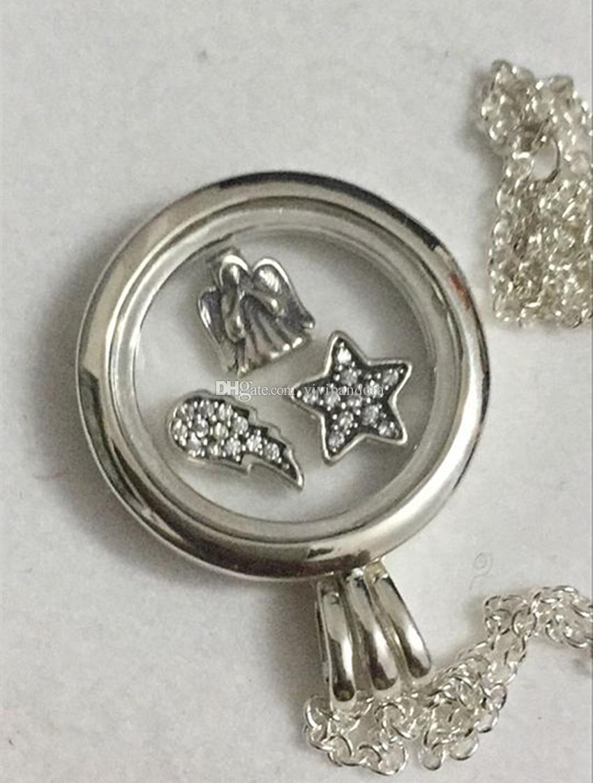 overstock queenberry necklace on product orders shipping crystals round charm over tree family free lockets pendant locket heart jewelry watches floating love