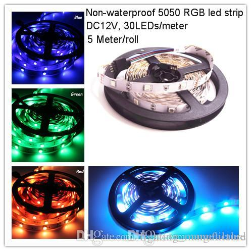Dc12v rgb 150smd roll 5 m led strip lights non waterproof super dc12v rgb 150smd roll 5 m led strip lights non waterproof super bright flexible led tape rope holiday party christmas ribbon lighting led strips holiday aloadofball Image collections