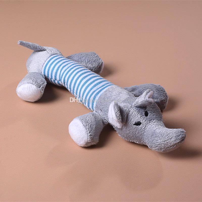 Hot Dog Spielzeug Haustier Plüsch Sound Kauen Quietschen Quietschendes Schwein Elefant Ente Spielzeug Nettes Haustier Spielzeug YC0042