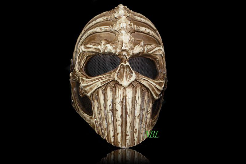 halloween horror demon skeleton mask protective helmet special skull glass reinforced plastic ghost rider masks party supplies blue masquerade ball masks