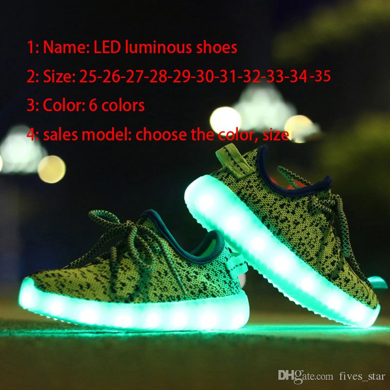 low priced 62068 0076a Großhandel 2017 Led Schuhe Sneakers Lighting Sneakers Casual Schuhe Kinder  Jungen Mädchen Yezzy Athletic Running Sport Flache Schuhe Mit USB Charge ...
