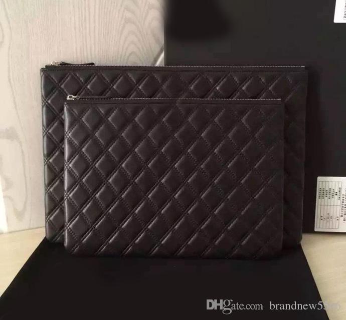 b605d204fe 2016 New Fashion Women Caviar Clutch Luxury Style Lambskin Clutch ...