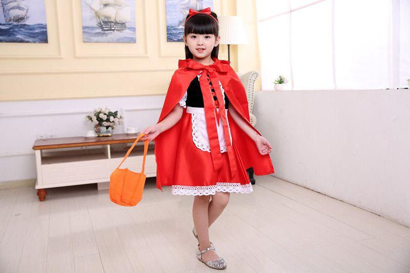 cute little red riding hood costume girl kidu0027s halloween cosplay clothing princess performance dress for kids little kids halloween costumes on