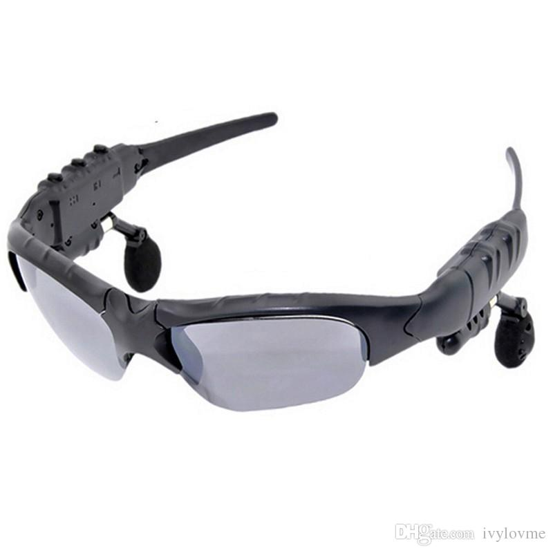 Nuevo Estéreo de conducción Gafas de Sol Bluetooth 4.0 Stereo Headset Auriculares Gafas de Sol Inalámbrico Manos Libres Con MicMusic Para Teléfono Móvil