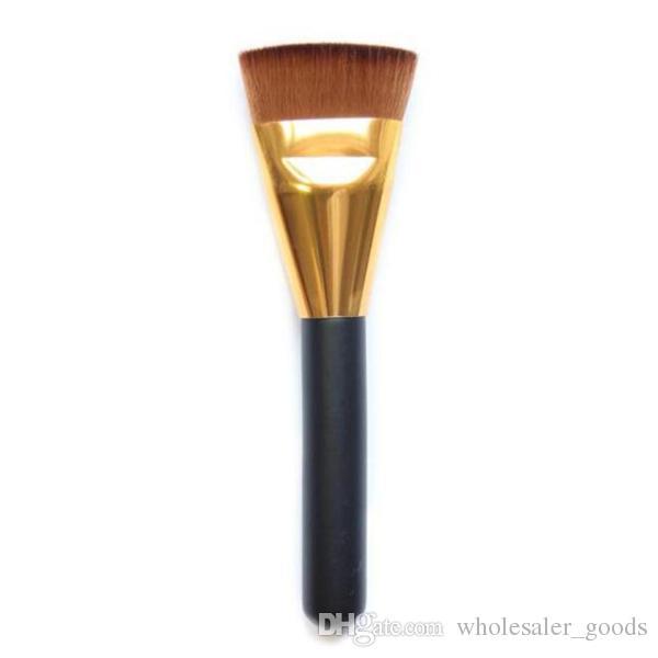 Brush Flat Contour Brush Trimming Loose Paint Brushes Makeup Brush Flat Head Three Color Options Wood Handle Nylon Hair Beauty Tools