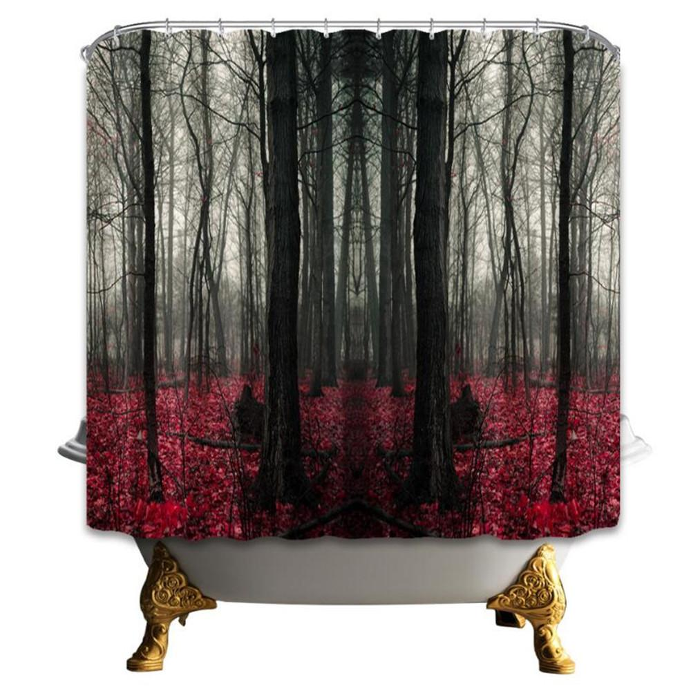 2018 69 X 70 Inch High Quality Forest Shower Curtain Home Decoration Bathroom Mildew Resistant Waterproof Polyester Fabric Hanging Curtains Cheap From
