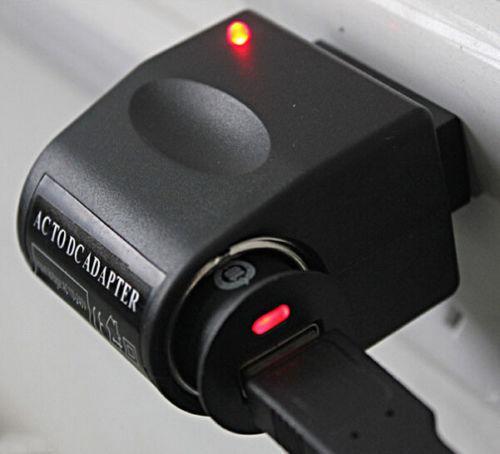 110V - Branchez-la-240V AC à l'adaptateur de convecteur de convertisseur briquet de la voiture 12V DC