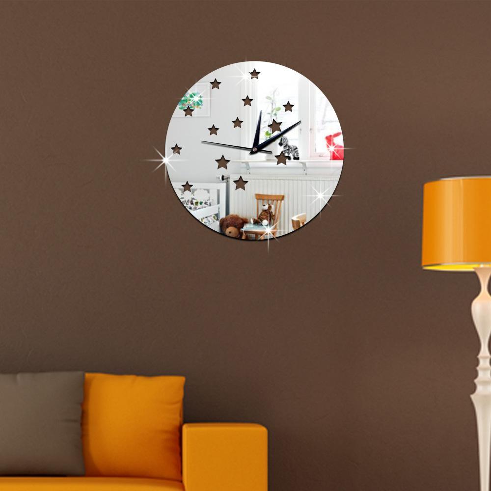 digital office wall clocks digital. 2016 Wall Clock Sticker Star Small Digital Stickers Home Decor Pointer Number Bedroom Office Desk Clocks For C