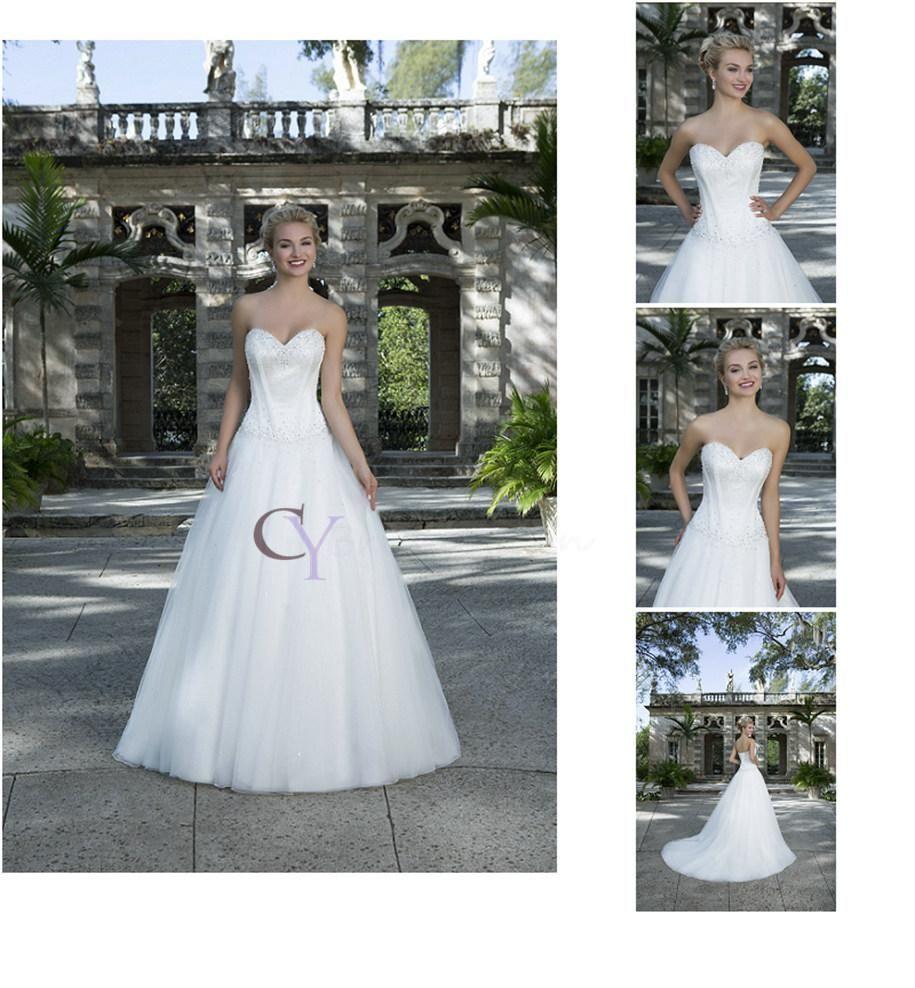 Strapless Sweetheart Neckline Natural Waist Tulle Ball Gown Custom ...