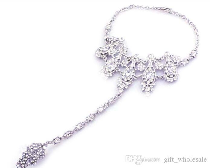 2016 neue Heiße Braut Armband Weibliche Weiße Hochzeit Mode Hand Kette Armband Brautschmuck Braut Zubehör