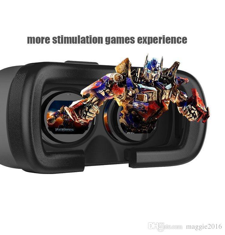 Nova realidade virtual caixa de vr ii ii versão 3d óculos 3d google papelão vr óculos 3d jogo de filme de vídeo para smartphones 4.7-6 polegada