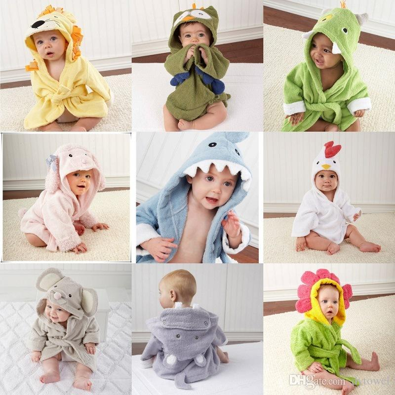 9add7f4ba3 Blue Pink Shark Cotton Towel Fabric Animal Modeling Hooded Baby Bathrobe  Cartoon Kids Bath Robe Towel Baby Swaddling Infant Pijamas Dress The Best  Towels ...
