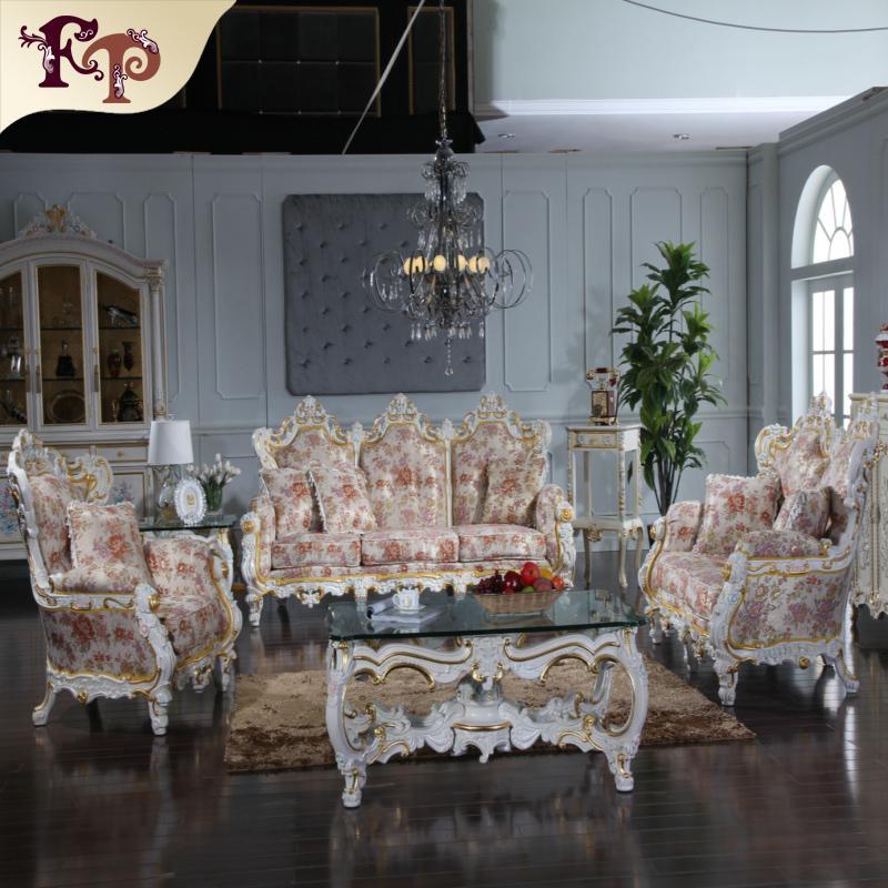 Acheter Royale Ensemble Canapé Classique Rococo Style Salon - Canapé classique