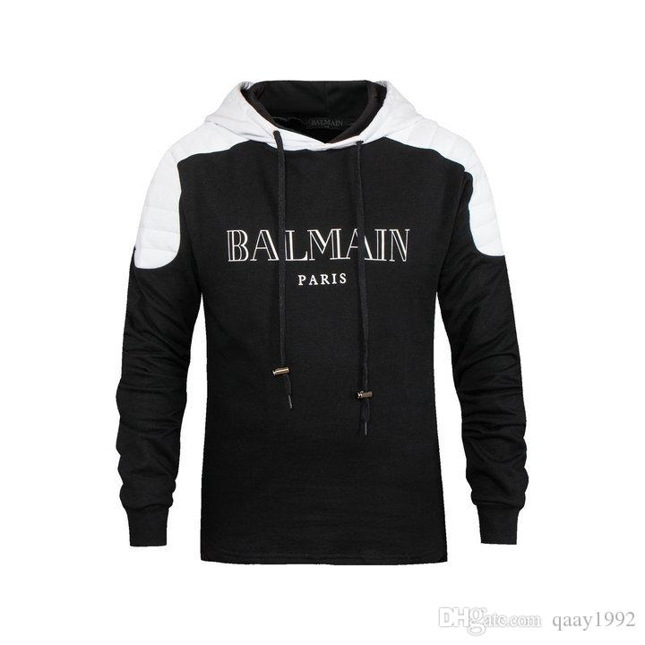 2018 balmain casual pullover sweater cotton hoodies sweatshirts from qaay1992 dhgate com. Black Bedroom Furniture Sets. Home Design Ideas
