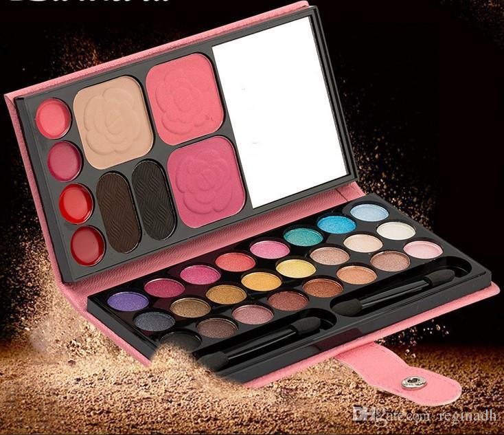 Mulheres Pérola Sombra paleta combinação saco de olho sombra cor da terra sombra de olho pérola maquiagem nua escovas 33 cor