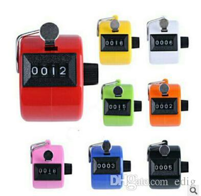 8 Color Sale Hand Held 4 Digit Number Tally Counter Clicker Golf Manual  Operation Machinery