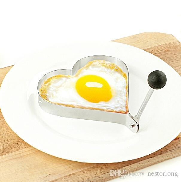 Creative Heart Shape Stainless Steel Poached Fried Egg Mold Shaper Pancake Mould Bento Decoration Kitchen Cooking Tool [ ]