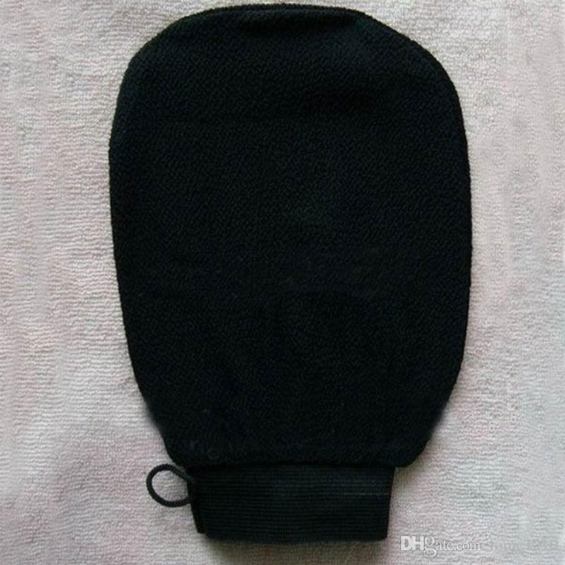 Wholesale hammam scrub mitt magic peeling glove exfoliating bath glove brown black morocco scrub glove