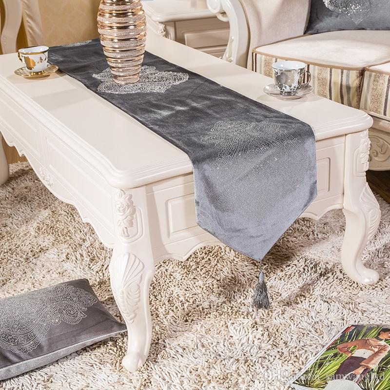 Europe Style Luxury Velvet Rhinestone Flower Dining Table Runners  Tablecloths Coffee Table Cloth Home Decorative Cloth Custom Table Cloth  Custom Table ...