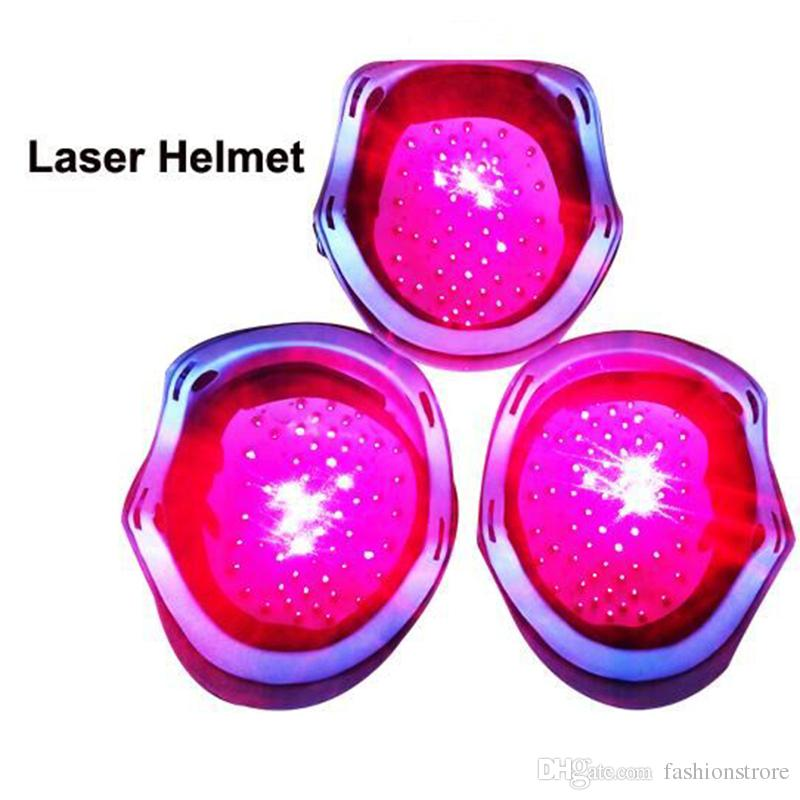 El más nuevo Casco de Rebrote de Pelo Láser 650nm Diodo láser de crecimiento del cabello contra la pérdida de cabello tratamiento de la cabeza masajeador casquillo gafas de protección ocular