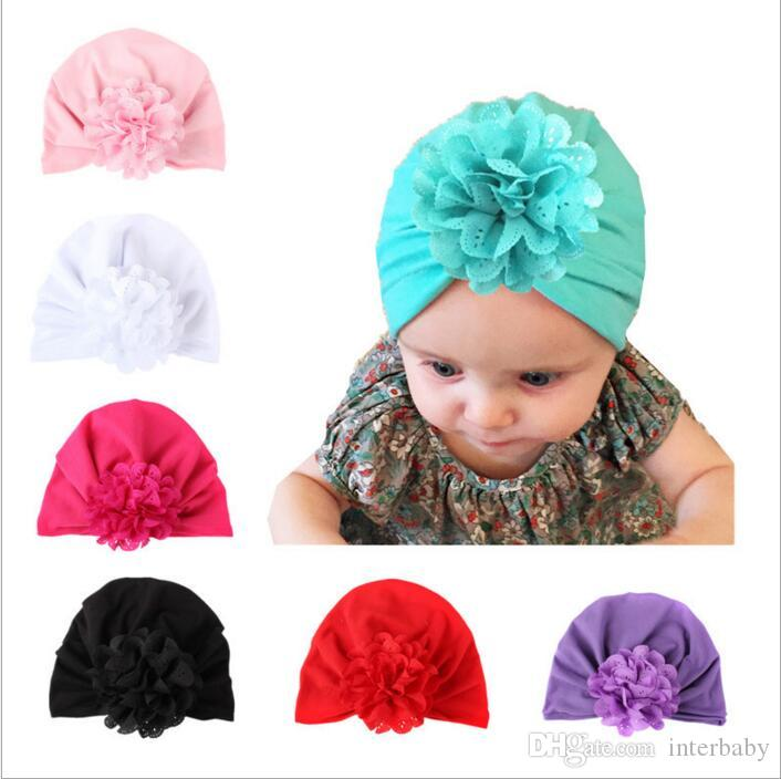 2019 Baby Hats Bohemiah Flower Caps Girls Knot India Turban Kids Fashion  Head Wraps Toddler Winter Beanie Xmas Headwear Photography Props B2712 From  ... f6f36013ce34